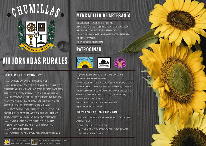 PARTICIPACION EN LAS VII JORNADAS RURALES DE CHUMILLAS (CUENCA)